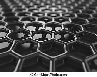 Carbon background - Abstract black heaxagonal carbon...