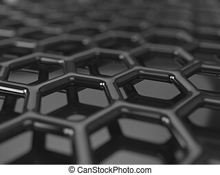 Carbon grid background - Abstract dark background -...
