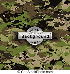 Camouflage military pattern background. Vector illustration, EPS10