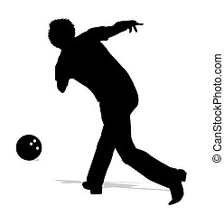 bowler - silhouette of bowler