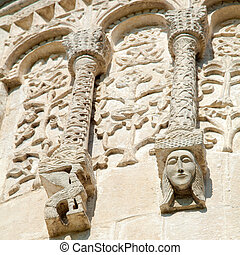 Stone Carving at Cathedral of Saint Demetrius XII c in...