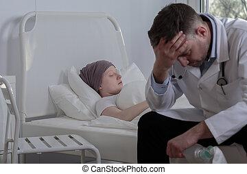 Broken doctor with his patient - Broken down doctor knows...