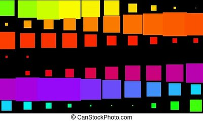 color square pattern,pulse