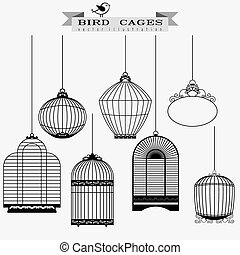 Bird cages set