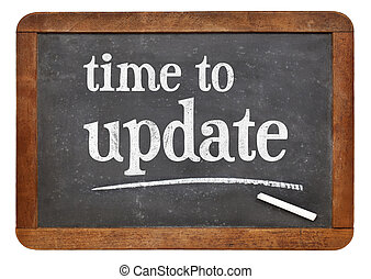 Time to update reminder on blackboard