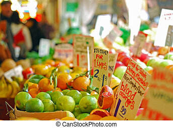 vegetables at the market - vegetables and fruits at the pike...
