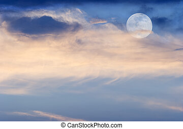 Moon Clouds - Moon clouds is a soft colorful scenic...