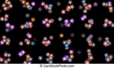 Animation of color wild flower background,def