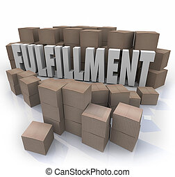 Fulfillment Cardboard Boxes Shipping Orders Warehouse...