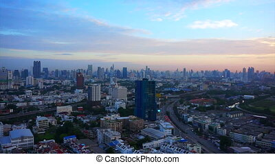 Bangkok, Thailand top view sun - Video of Bangkok, Thailand...