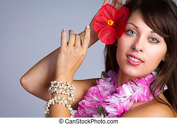 Beautiful Hawaiian Dancer
