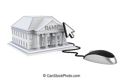 Online Banking Illustration isolated on white background 3D...
