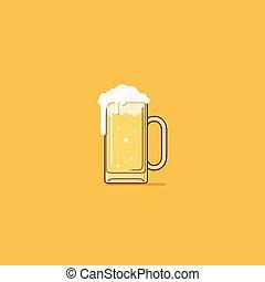 Beer - beer simple illustration