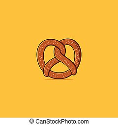 Pretzel simple illustration