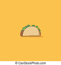 Taco - Street food taco illustration