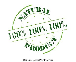 Natural product - Rubber stamp with text natural product...