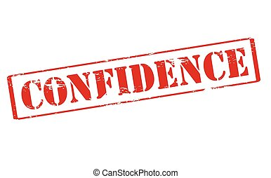 Confidence - Rubber stamp with word confidence inside,...