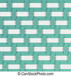braided weave pattern, blue background vector