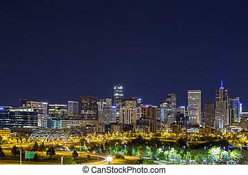 Denver downtown panorama, Colorado - Denver downtown...