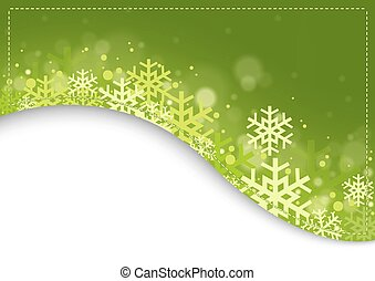 Green Xmas Background - Abstract Christmas Illustration,...