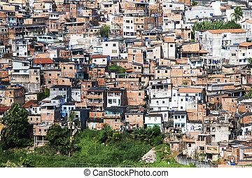 Salvador in Bahia, Brazil - Poor neighborhood of Salvador...