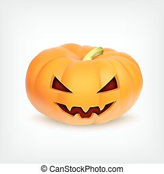 Pumpkin - Halloween pumpkin Vector icon EPS10