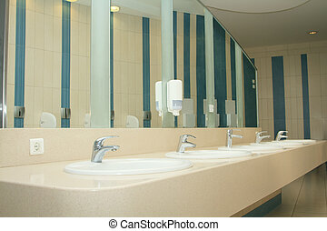 interior of private restroom - modern interior of private...
