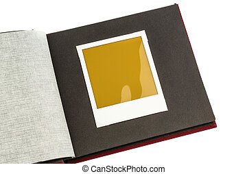 photo album - album against white background, symbol photo...