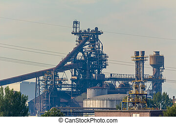 blast furnace steel plant - the blast furnace of a steel...