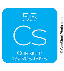 Informative Illustration of the Periodic Element - Caesium -...