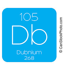 Informative Illustration of the Periodic Element - Dubnium -...