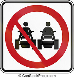 No Overtaking For ATVs in Canada - Canadian traffic sign -...