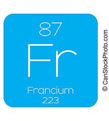 Informative Illustration of the Periodic Element - Francium...