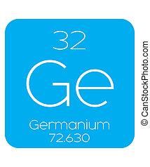 Informative Illustration of the Periodic Element - Germanium...