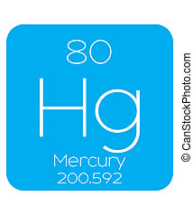 Informative Illustration of the Periodic Element - Mercury -...