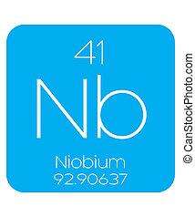 Informative Illustration of the Periodic Element - Niobium -...