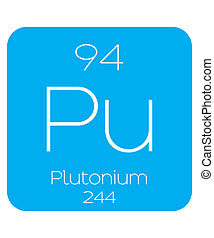 Informative Illustration of the Periodic Element - Plutonium...