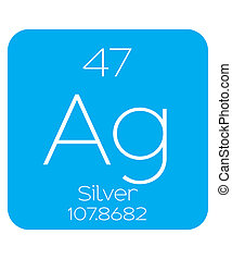 Informative Illustration of the Periodic Element - Silver -...