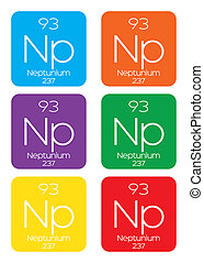 Informative Illustration of the Periodic Element - Neptunium...