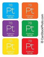 Informative Illustration of the Periodic Element - Platinum...
