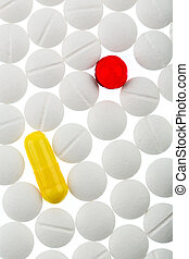 colorful and white tablets - white and colored tablets...