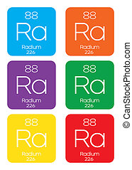 Informative Illustration of the Periodic Element - Radium -...