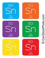 Informative Illustration of the Periodic Element - Tin - An...
