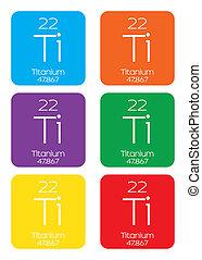 Informative Illustration of the Periodic Element - Titanium...