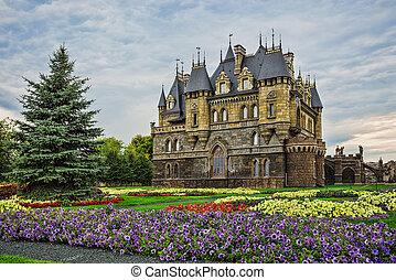 Tourist center Castle Garibaldi in the village Hryaschevka...