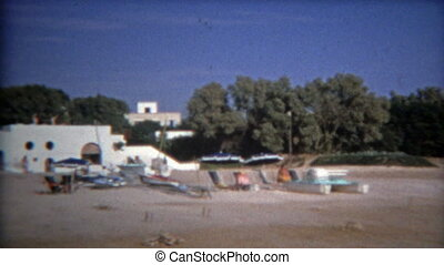 1972: Fancy Tunisian beach resort - 100% unique vintage 8mm...
