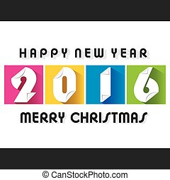 creative happy new year 2016 design