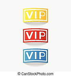 realistic design element: vip