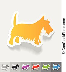 realistic design element. scottish terrier - scottish...
