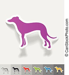 realistic design element. greyhound - greyhound paper...